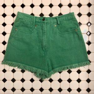 VINTAGE Janet Jeans Green Shorts